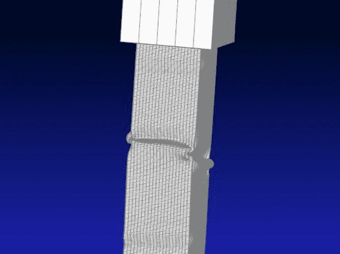 crash tubo rettangolare