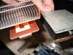alette di raffreddamento di un processore