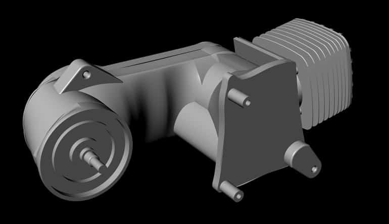 Motore go-kart CAD