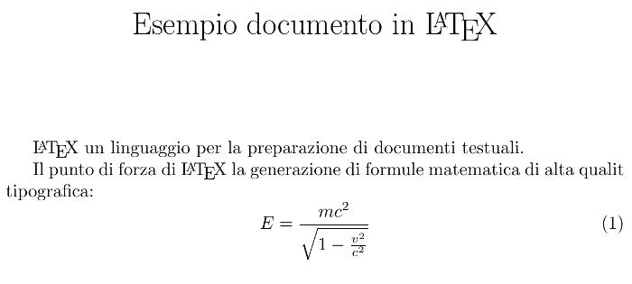 Esempio file LaTeX